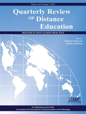 cover image of Quarterly Review of Distance Education, Volume 18, Number 1