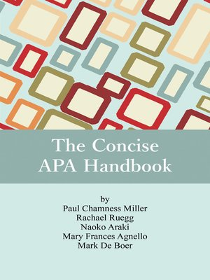 cover image of The Concise APA Handbook