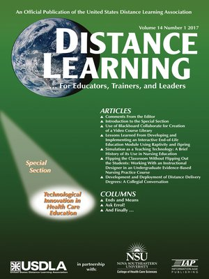 cover image of Distance Learning, Volume 14, Number 1