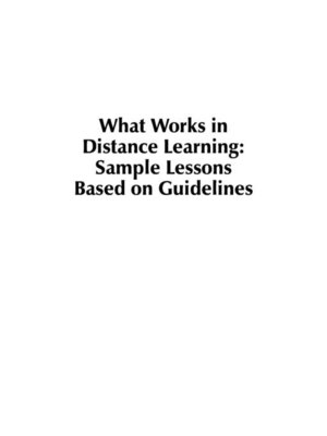 cover image of What Works in Distance Learning