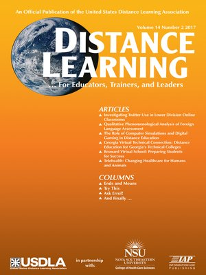 cover image of Distance Learning, Volume 14, Number 2
