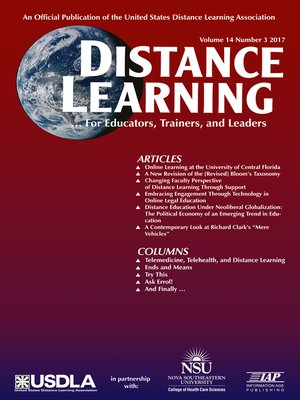 cover image of Distance Learning, Volume 14, Number 3