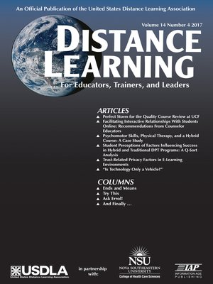 cover image of Distance Learning, Volume 14, Number 4