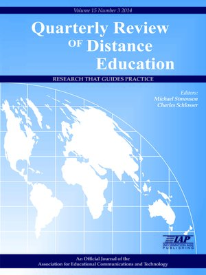 cover image of Quarterly Review of Distance Education, Volume 15, Issue 3