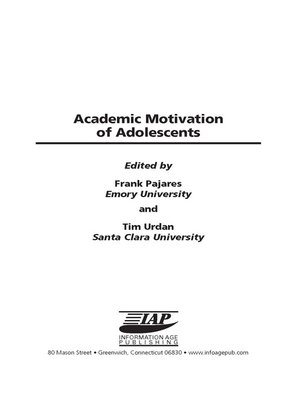 cover image of Academic Motivation of Adolescents