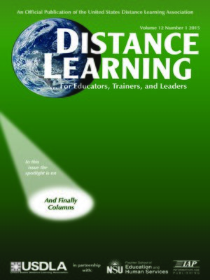 cover image of Distance Learning, Volume 12, Issue 1