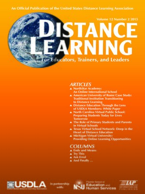 cover image of Distance Learning, Volume 12, Number 2