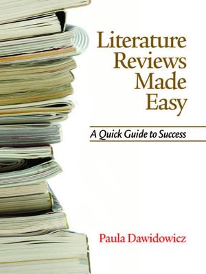 cover image of Literature Reviews Made Easy