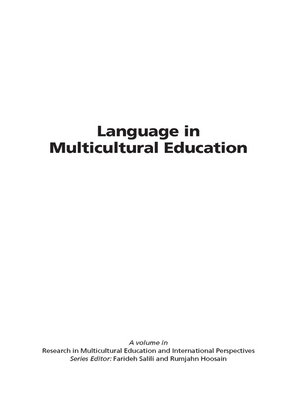 cover image of Language in Multicultural Education