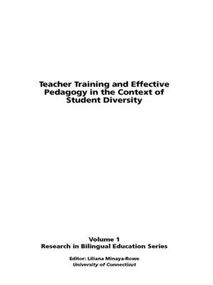 cover image of Teacher Training and Effective Pedagogy in the Context of Student Diversity