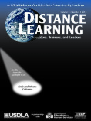 cover image of Distance Learning, Volume 11, Issue 4