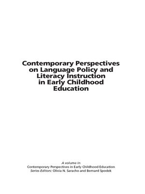 cover image of Contemporary Perspectives on Language Policy and Literacy Instruction in Early Childhood Education