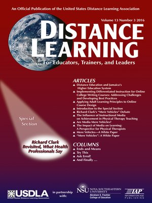 cover image of Distance Learning, Volume 13, Number 3