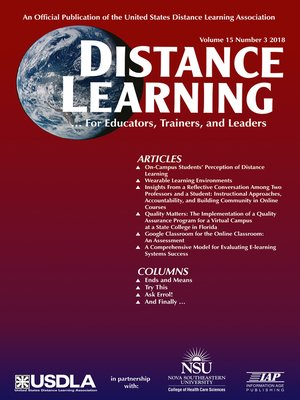 cover image of Distance Learning, Volume 15, Number 3