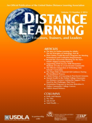 cover image of Distance Learning, Volume 13, Number 2