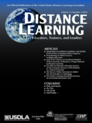 cover image of Distance Learning, Volume 12, Number 4