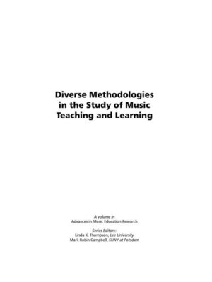 cover image of Diverse Methodologies in the Study of Music Teaching and Learning