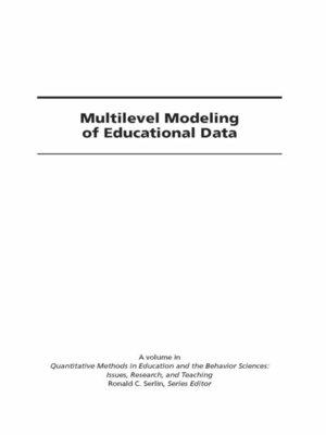 cover image of Multilevel Modeling of Educational Data