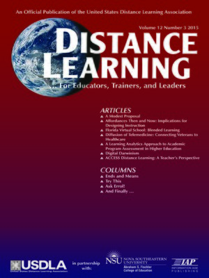 cover image of Distance Learning, Volume 12, Number 3