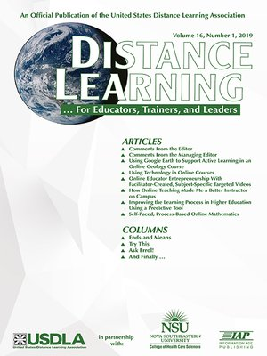 cover image of Distance Learning, Volume 16, Number 1