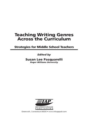 cover image of Teaching Writing Genres Across the Curriculum