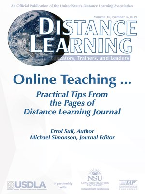 cover image of Distance Learning, Volume 16, Number 4