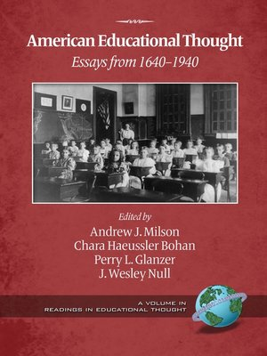 cover image of American Educational Thought