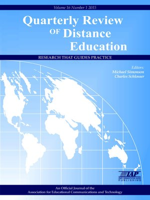 cover image of Quarterly Review of Distance Education, Volume 16, Issue 1