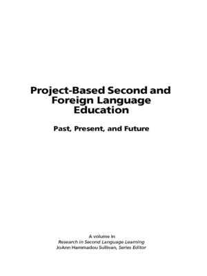cover image of Project-Based Second and Foreign Language Education