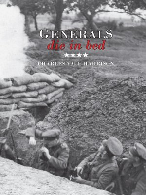 cover image of Generals Die in Bed