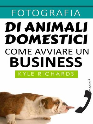 cover image of Fotografia di animali domestici