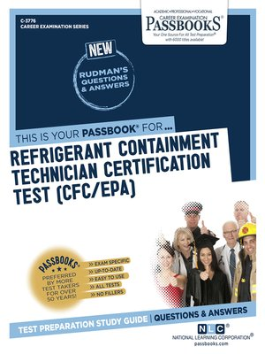 cover image of Refrigerant Containment Technician Certification Test