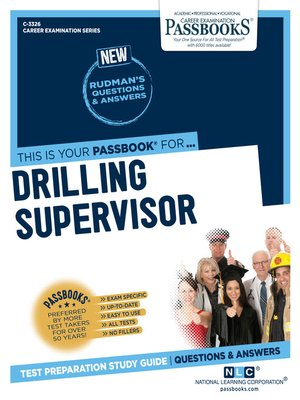 cover image of Drilling Supervisor
