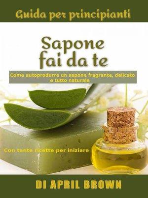 cover image of Guida per principianti Sapone fai da te Come autoprodurre un sapone fragrante, delicato e tutto naturale  Con tante ricette per principianti