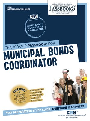 cover image of Municipal Bonds Coordinator