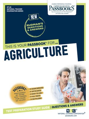 cover image of AGRICULTURE