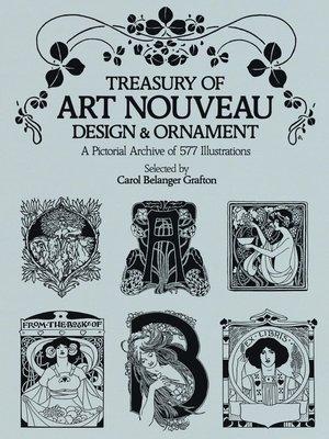 cover image of Treasury of Art Nouveau Design & Ornament