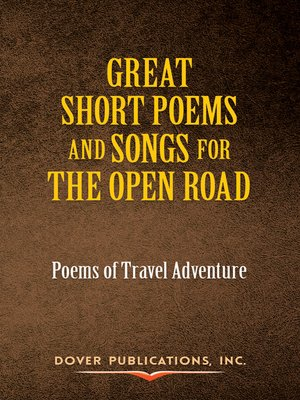 cover image of Great Short Poems and Songs for the Open Road