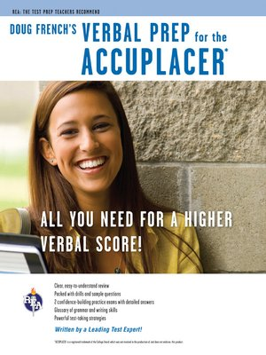 cover image of Accuplacer: Doug French's Verbal Prep