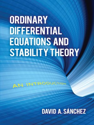 cover image of Ordinary Differential Equations and Stability Theory