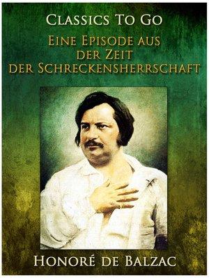 cover image of Eine Episode aus der Zeit der Schreckensherrschaft