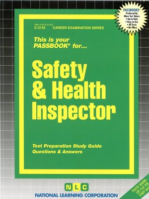 cover image of Safety and Health Inspector