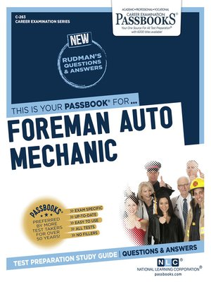 cover image of Foreman Auto Mechanic