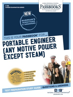 cover image of Portable Engineer (Any Motive Power Except Steam)
