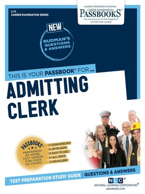 cover image of Admitting Clerk