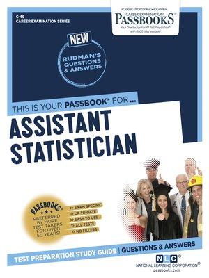 cover image of Assistant Statistician