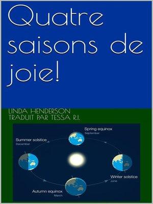 cover image of Quatre saisons de joie!