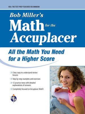 cover image of Bob Miller's Math for the Accuplacer