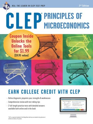 cover image of CLEP Principles of Microeconomics w/ Online Practice Exams