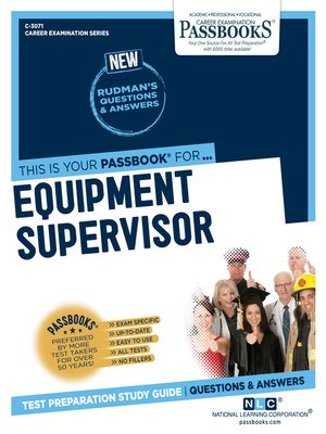 cover image of Equipment Supervisor